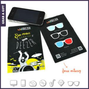 Grab a Gift - Microvezel brillendoekjes 10 x15 cm bedrukken met logo