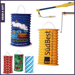 Grab a Gift - papieren lampionnen bedrukken met logo