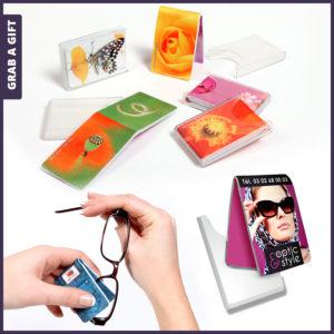 Grab a Gift La Pocket - Brillendoekje met logo bedrukken in handig opberddoosje