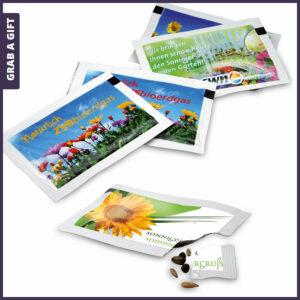 Grab a Gift Seed-Packet - Zaadzakjes bedrukken met logo en reclame-boodschap