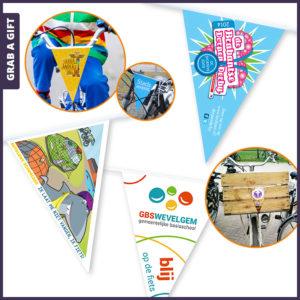 Grab a Gift - Fietswimpels fietsvlaggetjes bedrukken met logo