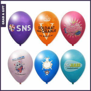 Grab a Gift - Reclame Ballonnen full colour bedrukken