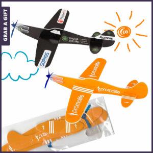 Grab a Gift - Vliegtuigje van foam met Full Colour Bedrukking