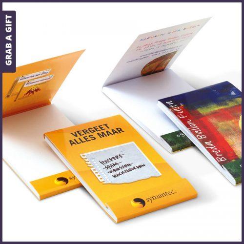 Grab a Gift - Voordelig notitieboekje met Full Colour bedrukte omslag