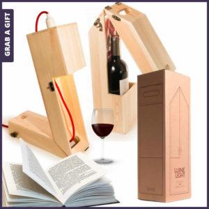 Grab a Gift - Winelight wijnkistje van RackPack graveren met logo