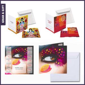 Grab a Gift - Microvezel doekje met wenskaart bedrukken