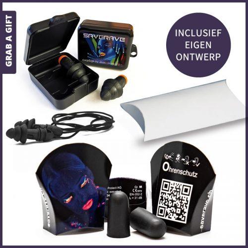 Grab a Gift - promotionele oordopjes in verschillende verpakkingen bedrukken met logo