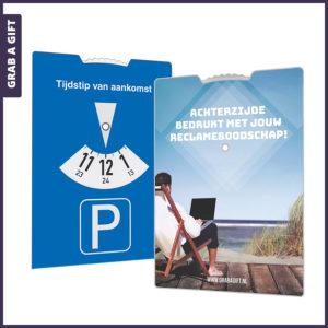 Grab a Gift - Kartonnen Parkeerkaart met Full Colour bedrukte achterzijde