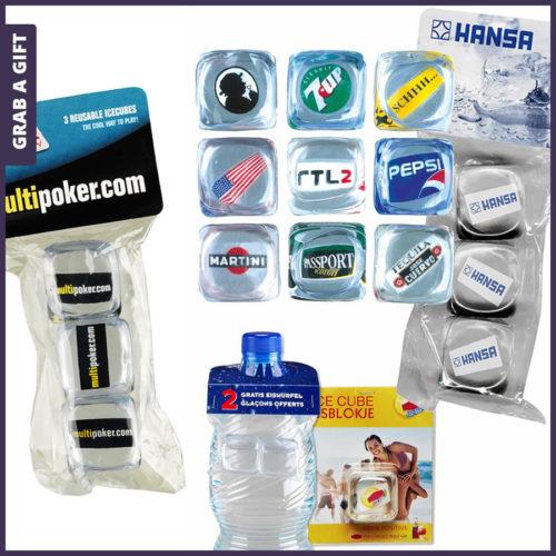 Grab a Gift - Herbruikbare ijsblokjes bedrukken met logo