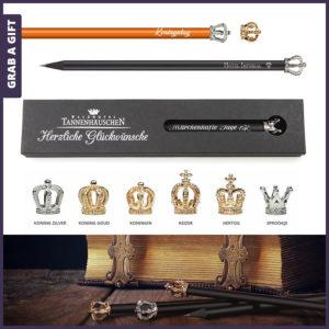 Grab a Gift Kroontjespotlood - Potlood met kroontjeen logo
