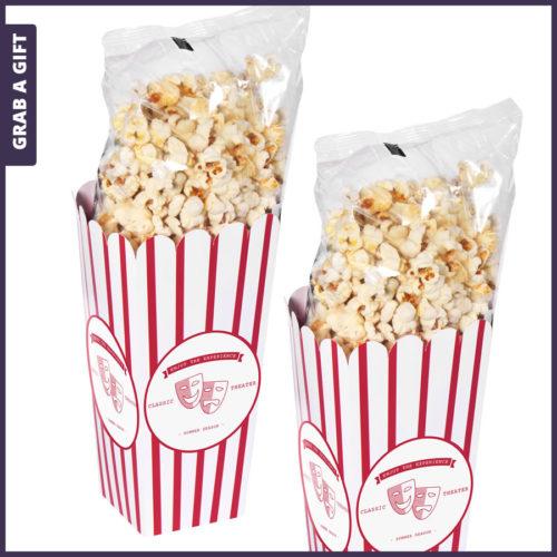 Grab a Gift - Kartonnen popcorn bekers bedrukken met logo