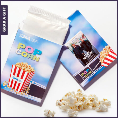Grab a Gift Magnetron Popcorn - Bedrukken Doosje met logo en reclame
