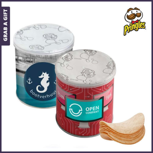 Grab a Gift - Mini Pringles met Full Colour bedrukte wikkel