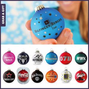 Grab a Gift - kerstballen bedrukken met logo als kerstgeschenk