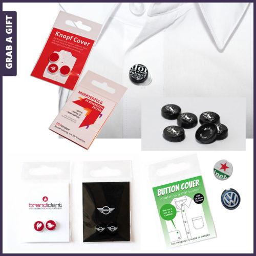 Grab a Gift - doton knoopbedekkers bedrukken met logo