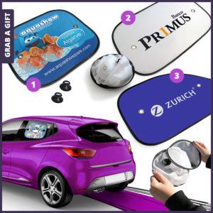 Grab a Gift - Zonnescherm als relatiegeschenk met logo Bedrukking