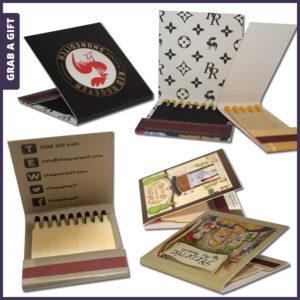 Grab a Gift - Lucifermapjes bedrukken met reclameboodschap of logo