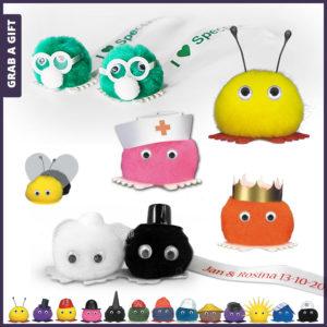 Grab a Gift - Wuppies bedrukken en bestellen met logo op lint