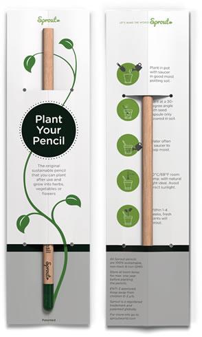 Grab a Gift - Engelstalige insteekkaart voor Sprout Groeipotlood
