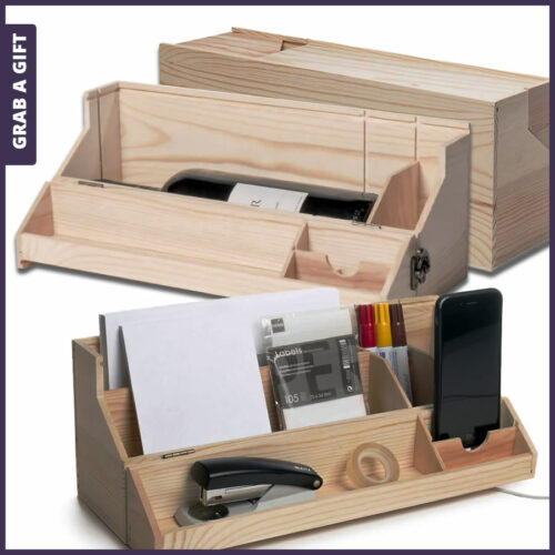 Grab a Gift Rackpack Wijnkistjes Graveren - RackPack Desk Topper met logo gravure