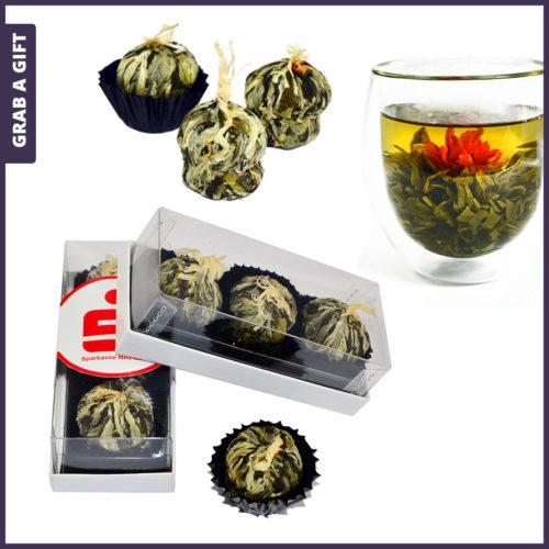 Grab a Gift - 3 theebloemen in geschenkverpakking met Full Colour label
