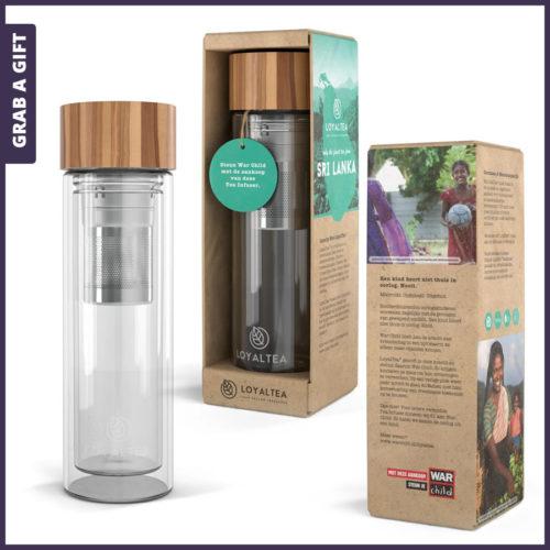 Grab a Gift - LoyalTea To Go Tea infuser bedrukken met logoGrab a Gift - LoyalTea To Go Tea infuser bedrukken met logo