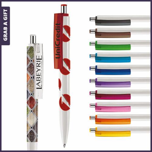 Grab a Gift Logopennen- e-Forty XL flash pen rondom bedrukken als relatiegeschenk