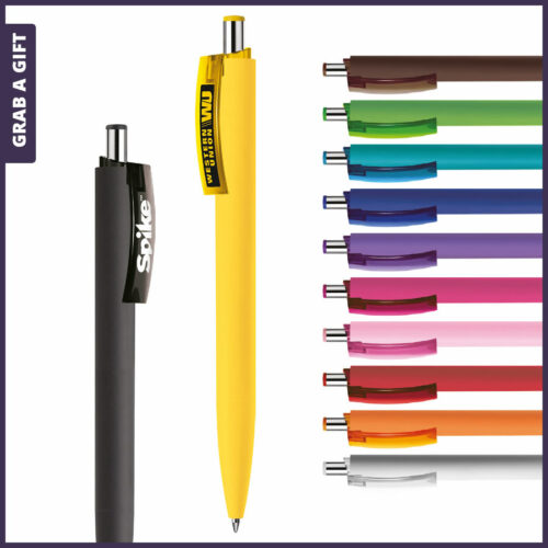 Grab a Gift Logopennen- e-Forty soft reclamepen rondom bedrukken als relatiegeschenk