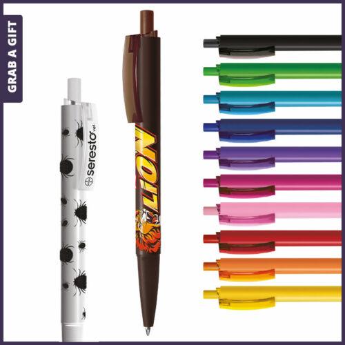 Grab a Gift Reclamepennen - Logopennen e-Twenty Solid rondom bedrukken met logo opdruk op clip