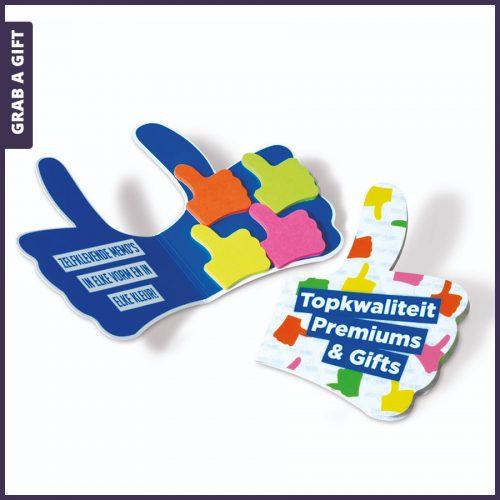 Grab a Gift - Thumbmarkers in mapje bedrukken met logo