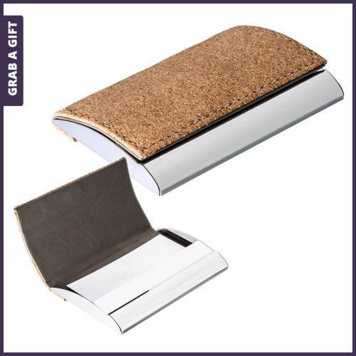 Grab a Gift - Visitekaarthouder van kurk graveren met logo