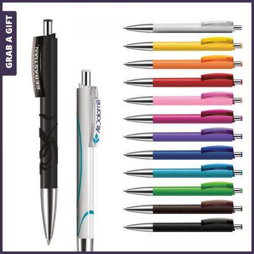 Grab a Gift - e-Fifty solid pen rondom bedrukken plus logo opdruk op clip