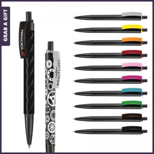 Grab a Gift - e-twenty black pen rondom bedrukken plus logo opdruk op clip