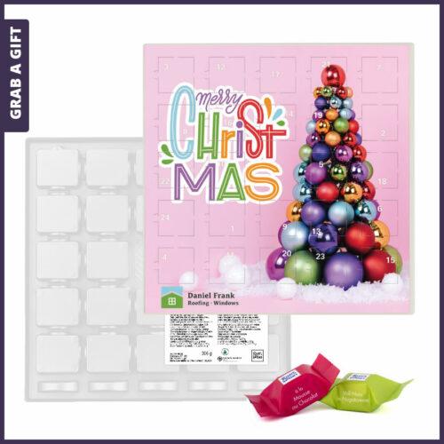 Grab a Gift Relatiegeschenk - Advent Kalender Vierkant bedrukken met logo en eigen ontwerp