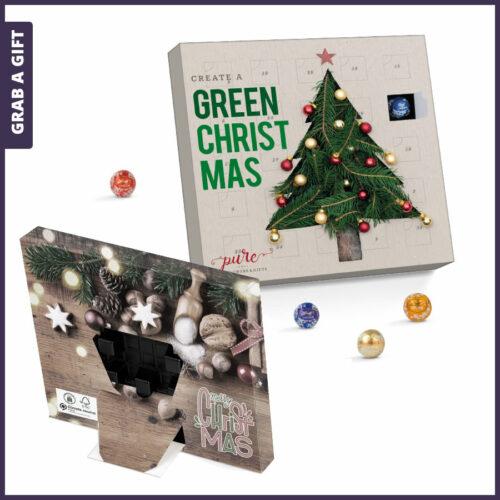 Grab a Gift Relatiegeschenk - Minikogel adventskalender bedrukken met logo en eigen ontwerp