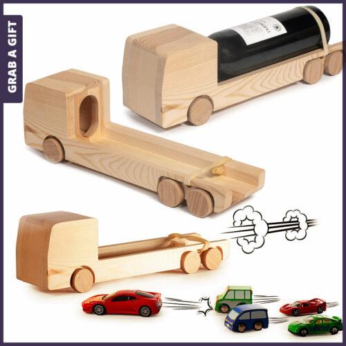 Grab a Gift Rackpack Wijnkistjes Graveren - Wine Truck met logo gravure