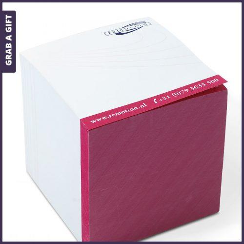 Grab a Gift - Kubusblok met Full Colour Bedrukking