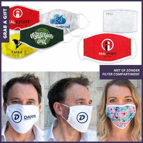Grab a Gift - Mondkapje MagEasy bedrukken met logo en reclame als relatiegeschenk