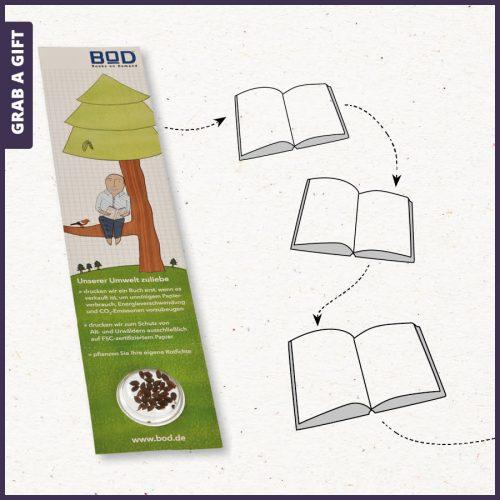 Grab a Gift - Boekenlegger met zaadjes in blister bedrukken als relatiegeschenk