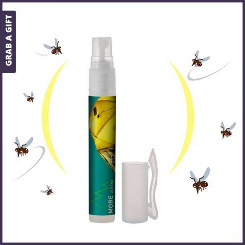 Grab a Gift - Etiket met logo bedrukken van flesje Anti-muggenspray