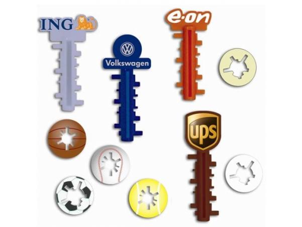 Grab a Gift - Keymaze met logo in eigen vorm en kleur