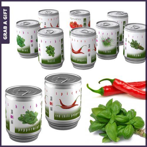 Grab a Gift - kruiden in blik met eigen Full Colour Etiket