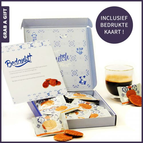 Grab a Gift - Hollands postpakket met 18 mini stroopwafels