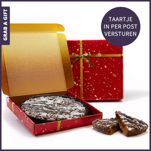 Grab a Gift - Taart met bedrukte kaart per post versturen