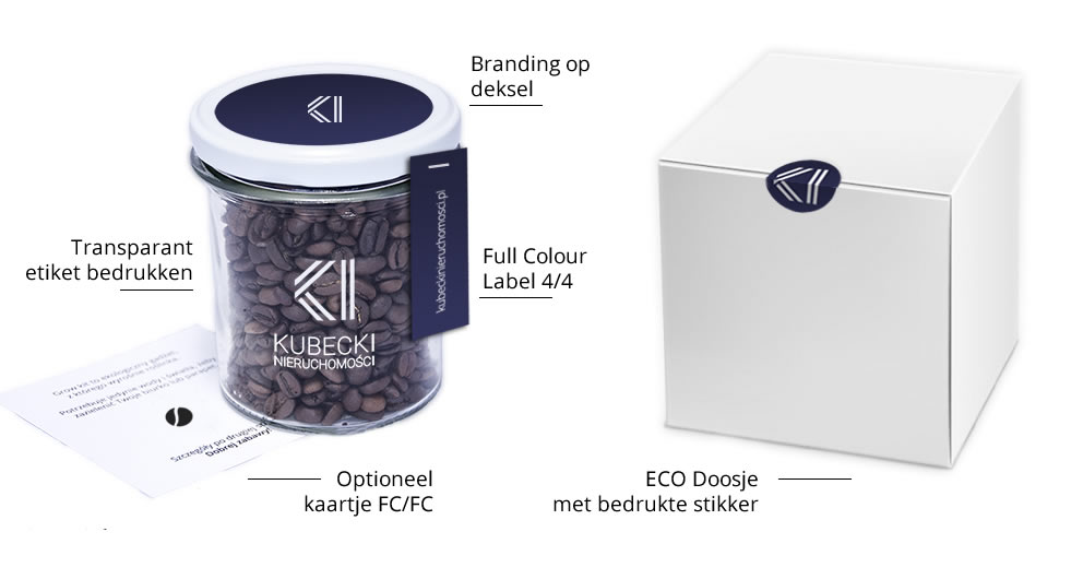 Grab a Gift - vers gebrande koffie als relatiegeschenk bedrukken