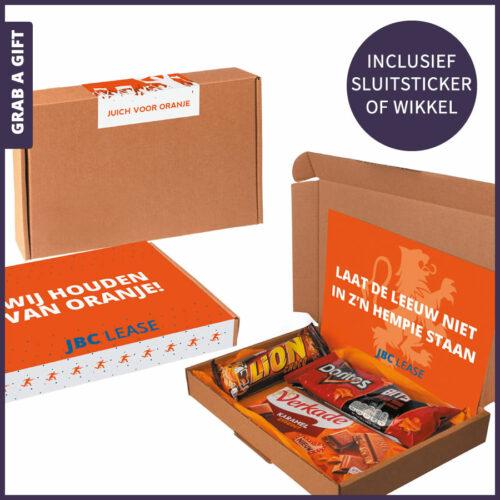 Grab a Gift Relatiegeschenken - GO LIONS brievenbusdoosje versturen