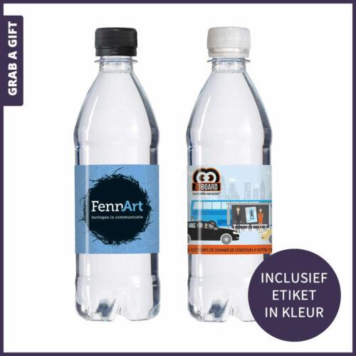 Grab a Gift - 500 ML koolzuurhoudend water met etiket in kleur bedrukt