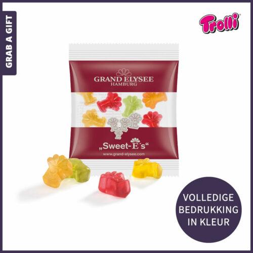 Grab a Gift relatiegeschenken - Trolli Fruitgums in eigen vorm in uitdeelverpakking als relatiegeschenk