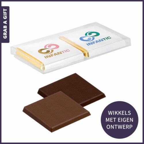 Grab a Gift - 2 napolitains met logo opdruk in kunststof doosje