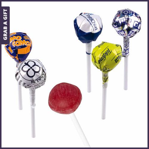 Grab a Gift - Folie van promotionele lollipop lolly bedrukken met logo